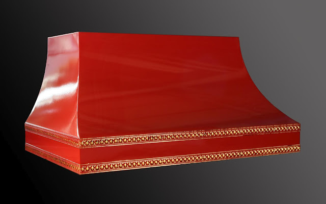 red lacquer kitchen hood