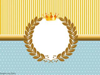 Para hacer invitaciones, tarjetas, marcos de fotos o etiquetas, para imprimir gratis de Príncipe Azul.