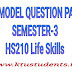 Model Question Paper For Life Skills HS210