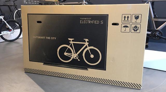 Caixa usada pela empresa para enviar bicicletas