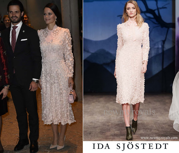 Princess Sofia wore Ida Sjöstedt Dress Fall Winter 2017