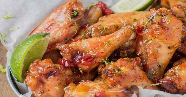 Cherry Lime Baked Wings Recipe