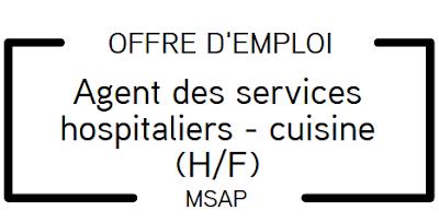 Offre d'emploi : ASH-cuisine (H/F)