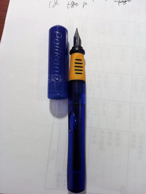 万年筆Pelikanoのキャップがひび割れている