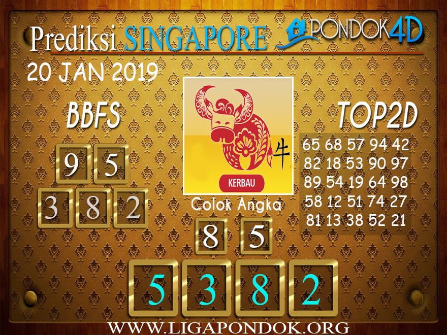 Prediksi Togel SINGAPORE PONDOK4D 20 JANUARI 2019