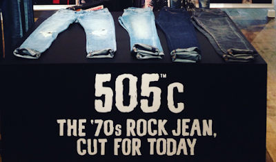 "The marketing message of 505C, ""The 70s Rock Jean, Cut for Today"""