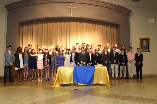18 New Members Inducted to National Honor Society at Montgomery Catholic 1