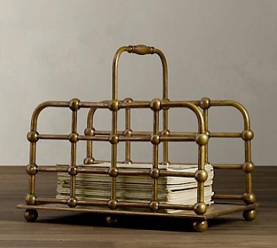 metal magazine rack