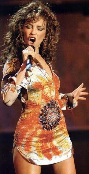 Foto de Thalía en el escenario