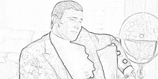 George Lazenby as James Bond coloring pages jamesbondreview.filminspector.com