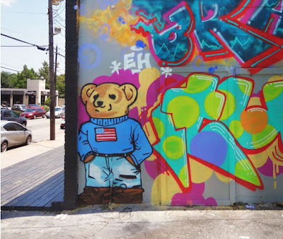 The Teddy Bear mural on Lower Westheimer - 1400 Block at Kuester