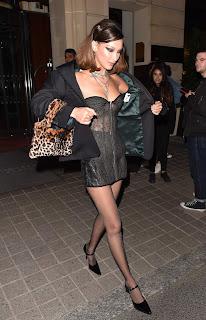 Bella Hadid Leaving the Royal Monceau el 8