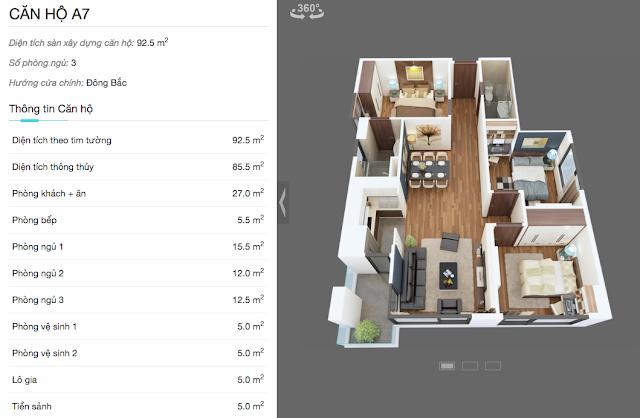 Thiết kế chi tiết căn A7 chung cư The Legend