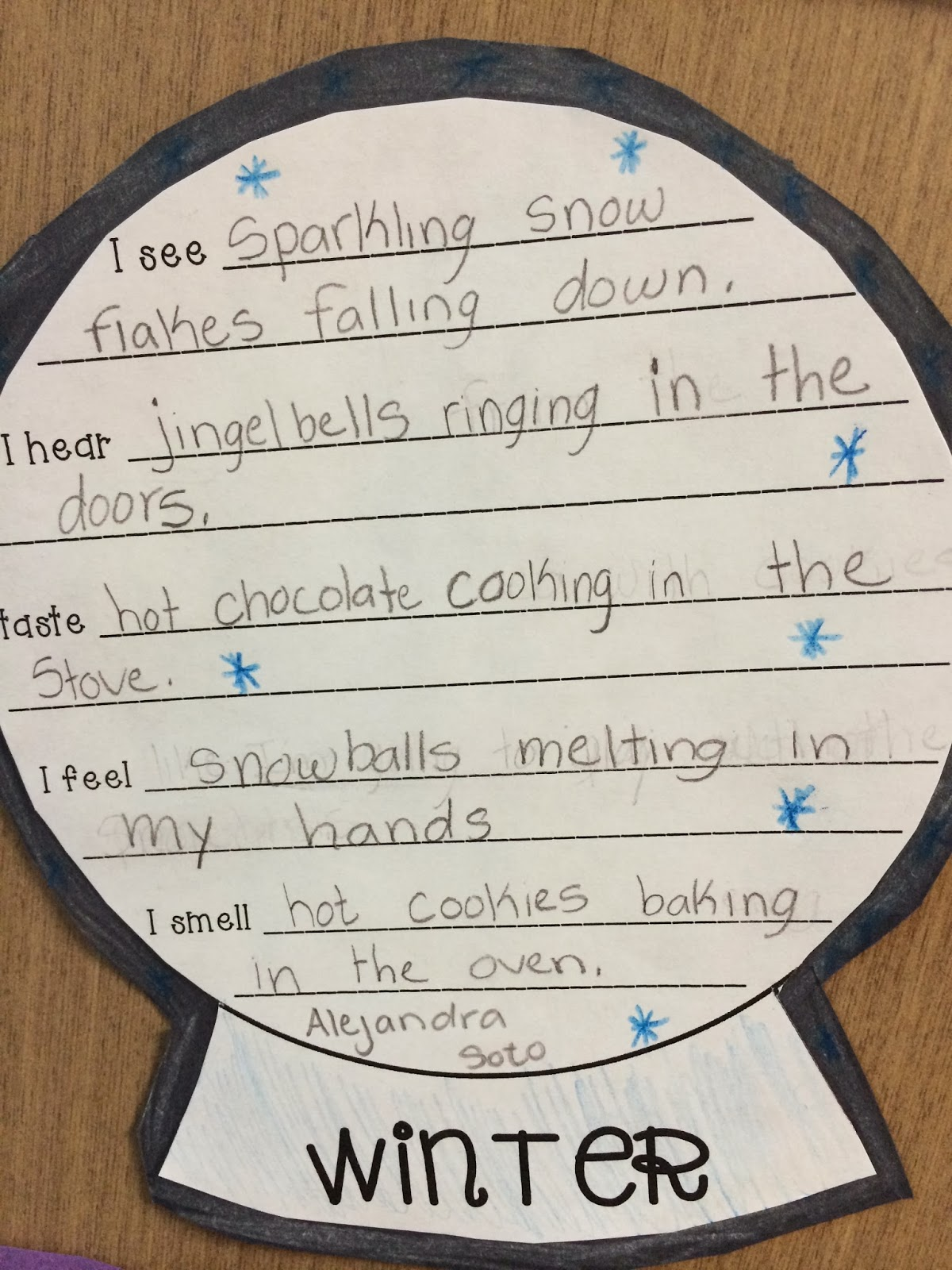 Seasonal Senses Poem Activity Sheet