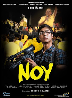 Noy is a Filipino independent film released in 2010. It stars Coco Martin and Erich Gonzales and was released under Star Cinema.