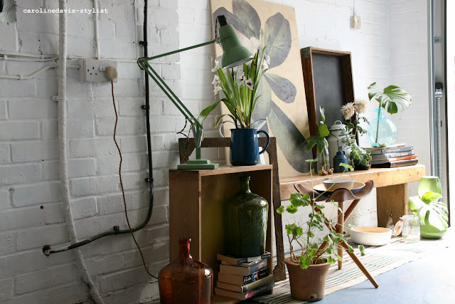caroline davis stylist, trend daily blog, styling details, plants, behind the scenes