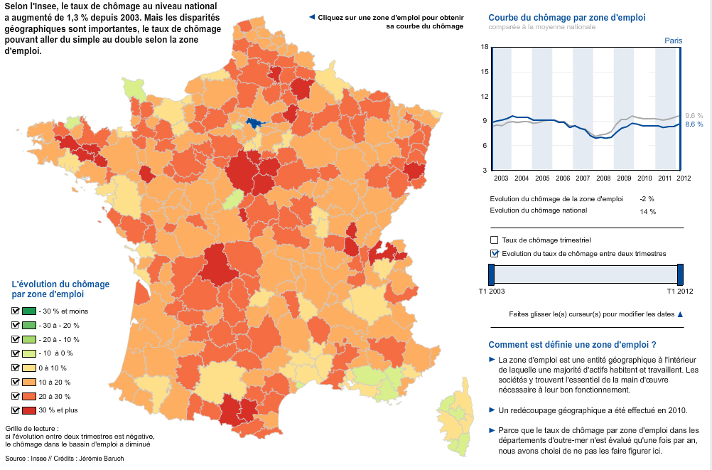 Urban Lab Global Cities Ulgc The Editor S Pick Interactive Map Of The Day France I Where Unemployment Rate Has Increased