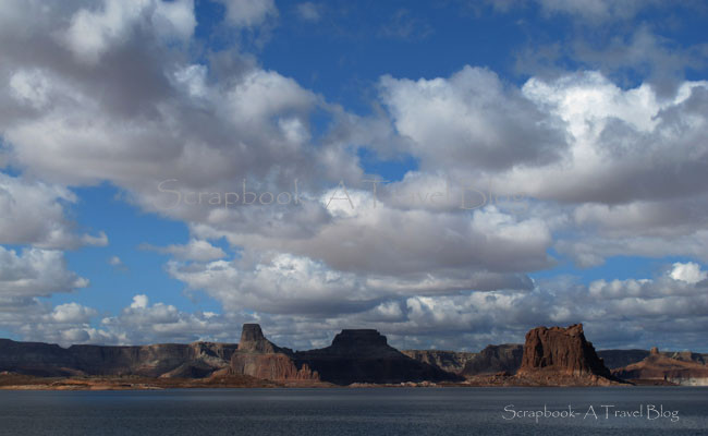 Lake Powell and sky Page, Arizona
