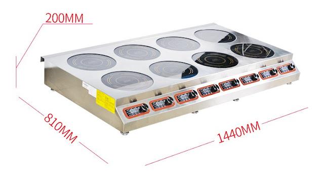 Bếp từ công nghiệp mỏng 8 mặt có hẹn giờ 3KW HZD-3KWX8-PX