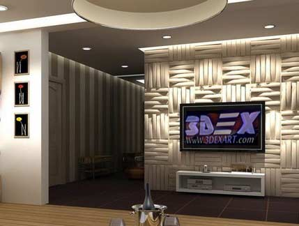 3d Decorative Wall Panels Modern MDF