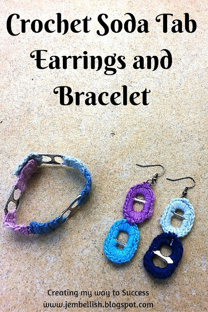 Crochet on Soda Tab Earrings