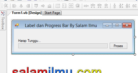 Pembacaan Data dengan Label dan Progress Bar pada Visual Basic .Net