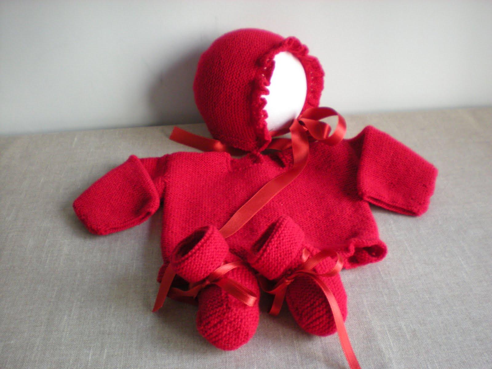 a6b2977d47df63 El bebé y su ropita: Atrevido color rojo ,también para el bebé.