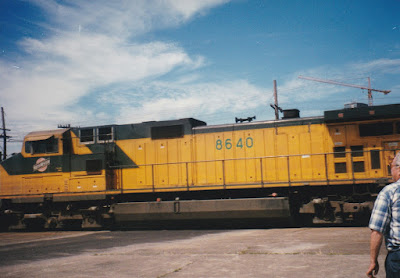 Chicago & North Western C44-9W #8640 in Vancouver, Washington, on July 13, 1997