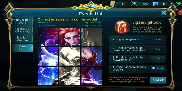 Skin Gratis Mobile Legends dari Event
