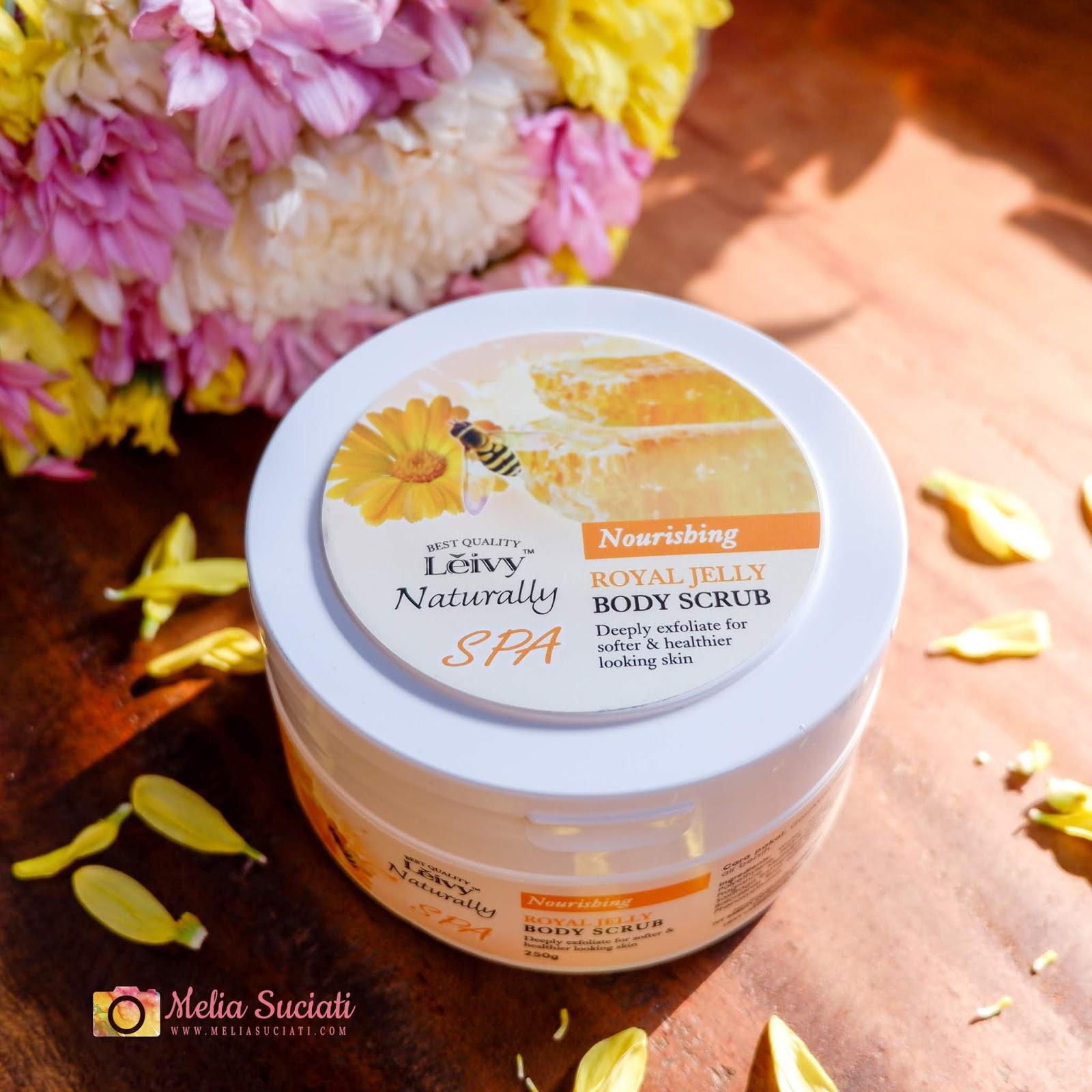 Review Leivy Naturally Body Scrub dan Facial Foam