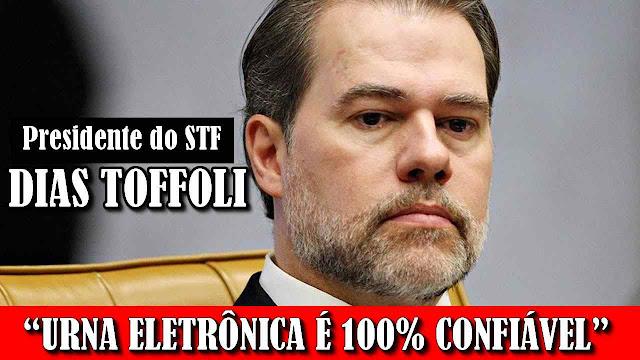 Presidente do Supremo Tribunal Federal, Dias Toffoli, defende Lava Jato e diz urna eletrônica é segura.