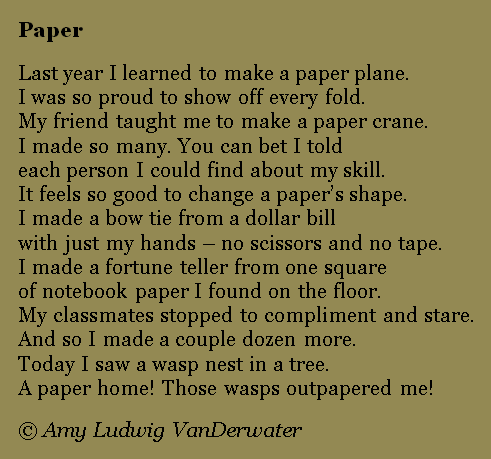 the wasps nest poem commentary The paper wasps written by rayheinrich (death plane for teddy) in observational poems at du poetry share poems, lyrics, short stories and spoken word poetry.