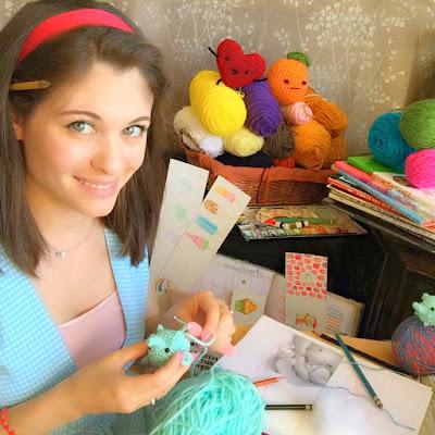 Alexandria Gold Illustration Alexandria Gold Children's Books Illustrations Ria Art World Crochet Critters Amigurumi Handmade Kawaii Joanne Hawker March Meet the Maker #marchmeetthemaker