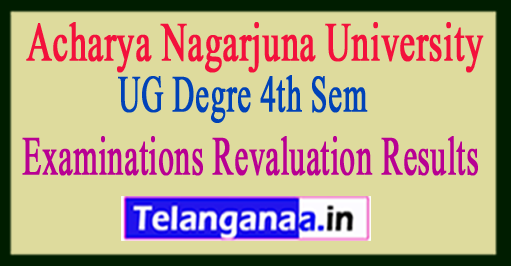Acharya Nagarjuna University UG Degre 4th Semester 2018 Examinations Revaluation Results
