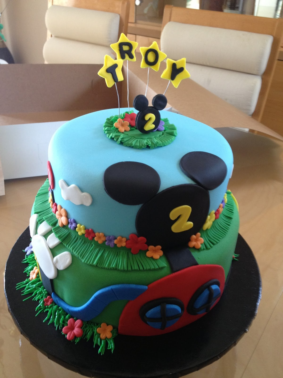 Love To Bake Mickey Mouse Luau Birthday Cake