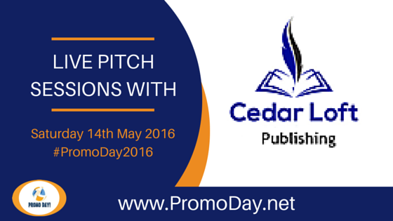 Cedar Loft Publishing to Take Pitches at #PromoDay2016