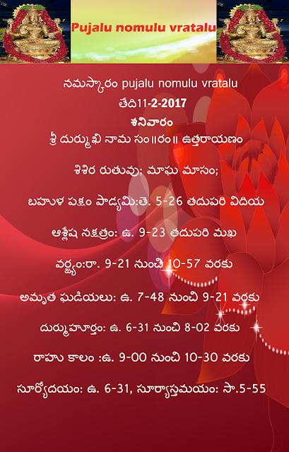 Today's panchagam in Telugu, Pujalu nomulu vratalu,rasi phalau in telugu,rasi phalau in english