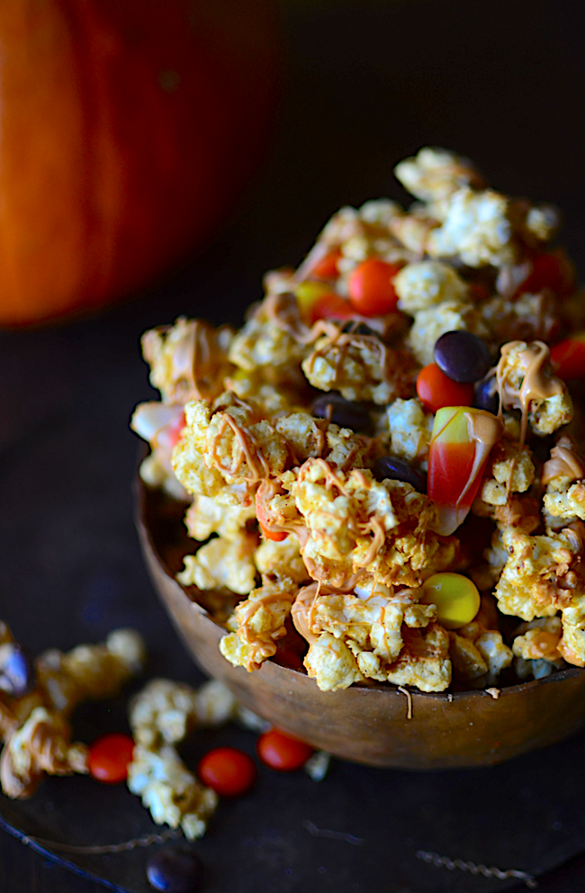 Yammie's Noshery: Microwave Pumpkin Spice Caramel Corn