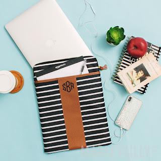 luggage, bag, travel, suitcase, wedding gift, marleylilly, monogram, black and white