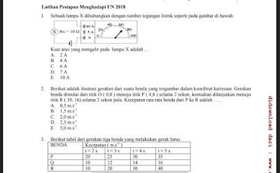 Soal Latihan UN IPA SMA, https://bloggoeroe.blogspot.com/
