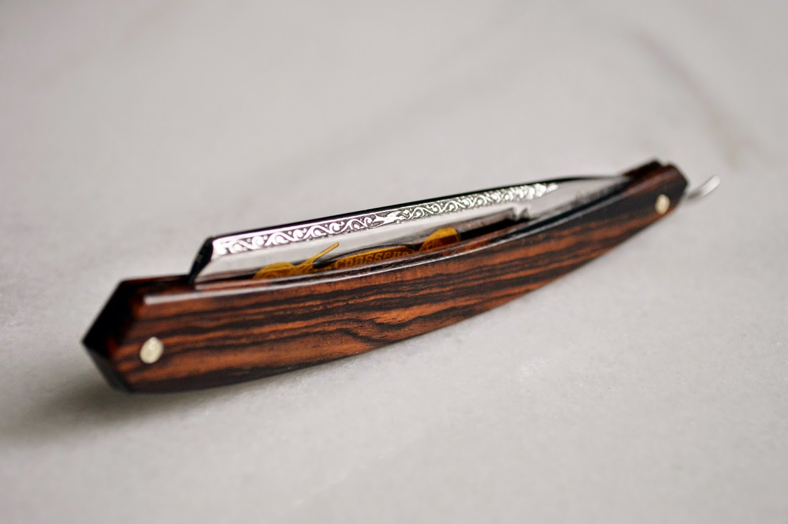 Thiers-Issard cocobolo straight razor, custom made for our collection