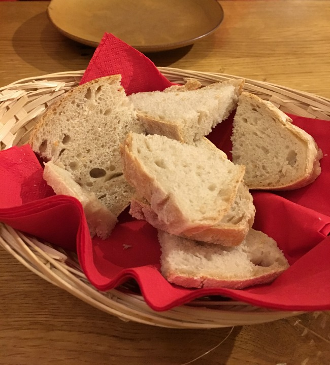 A basket of sliced bread
