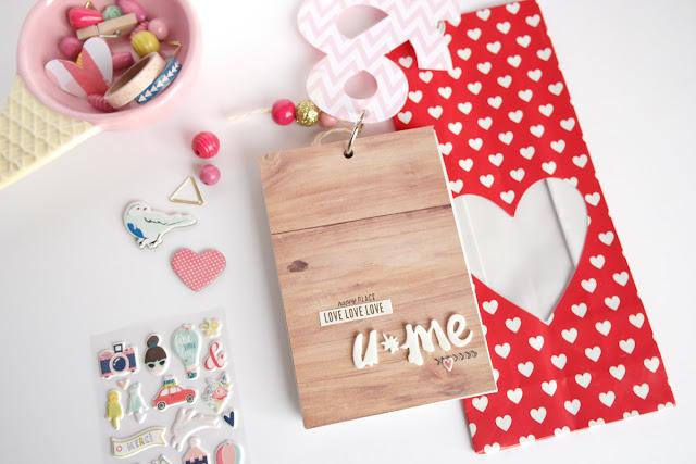 San Valentino 2017 | scrapbooking mini album dettagli www.kkushi.com