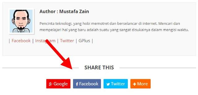 Cara Memunculkan Tombol Share Pada Template Blogspot