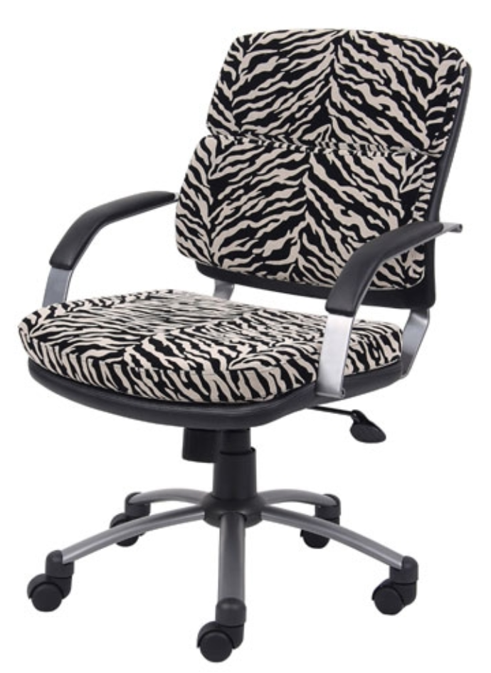 zebra-inspired office chair