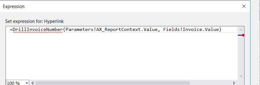 Microsoft Dynamics 365FO/AX Hub: SSRS report through drill through