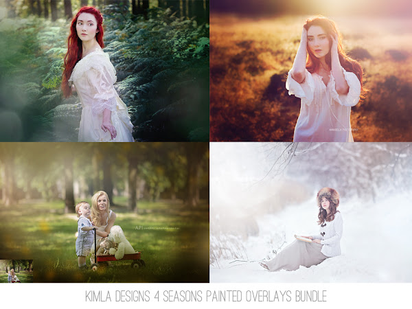 Four Seasons Painted Photo Overlays Special Offer + 2 Free Gifts