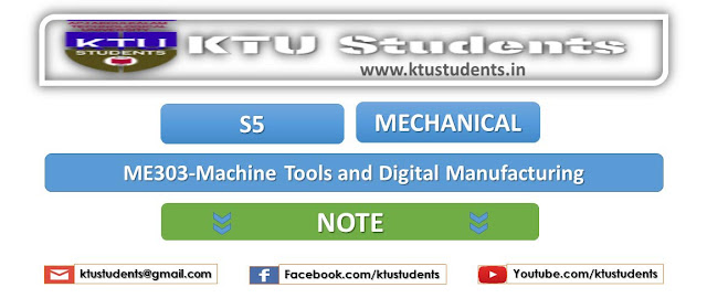 ktu Machine Tools and Digital Manufacturing me303