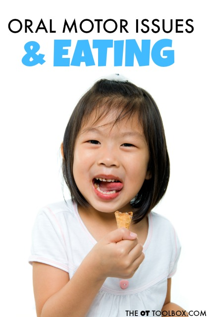 Kids can have trouble with picky eating and difficultities in feeding when there are oral motor problems. Different types of oral motor problems.