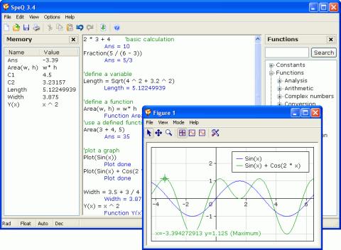 SpeQ Mathematics 3.4 - Δωρεάν μαθηματικό πρόγραμμα